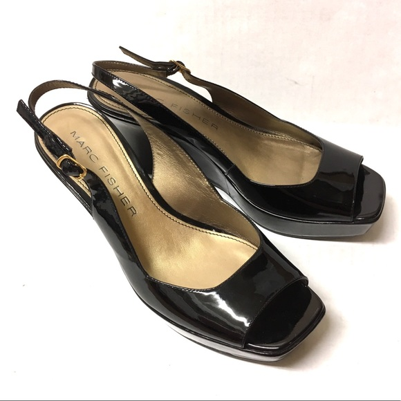 333131d3990 ... Marc Fisher black patent square heels 7.5. M 5b83a815d365be8e5f67a134